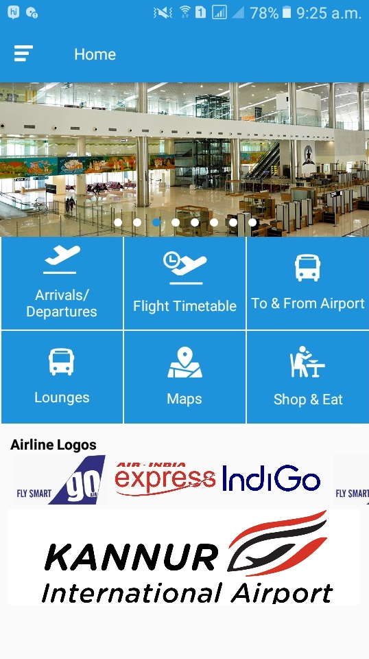 Kannur International Airport Android App